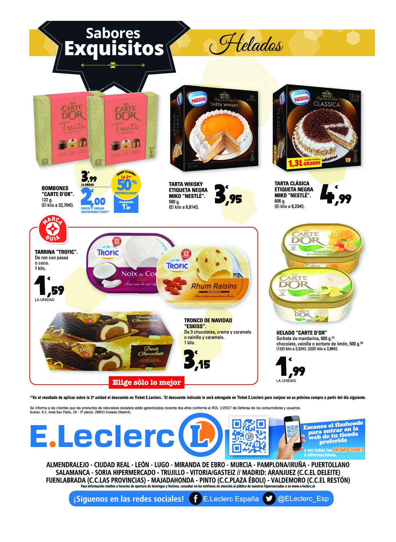 E leclerc sabores exquisitos for Leclerc brochure