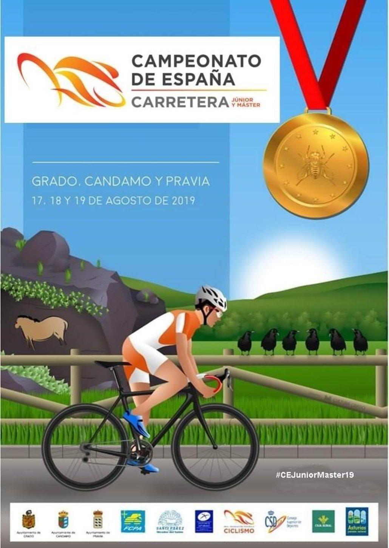 Cartel Campeonato de España de ciclismo