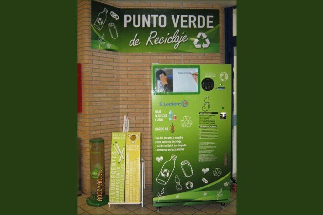 Maquina reciclaje envases