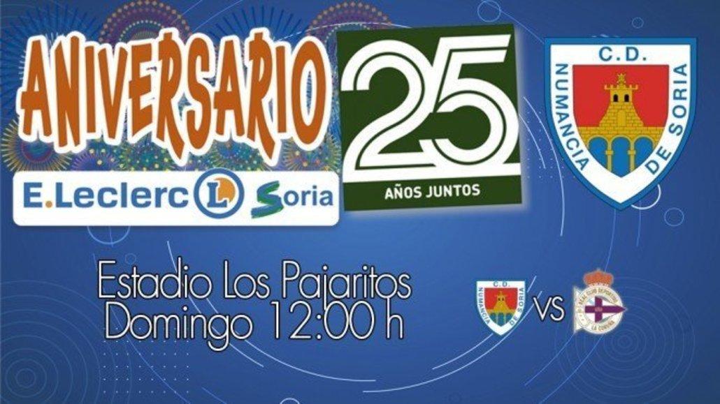 Partido  C. D. Numancia - R. C. Deportivo de La Coruña.