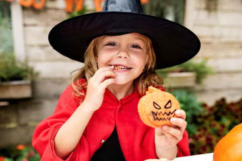 Galletas con forma de calabaza para Halloween