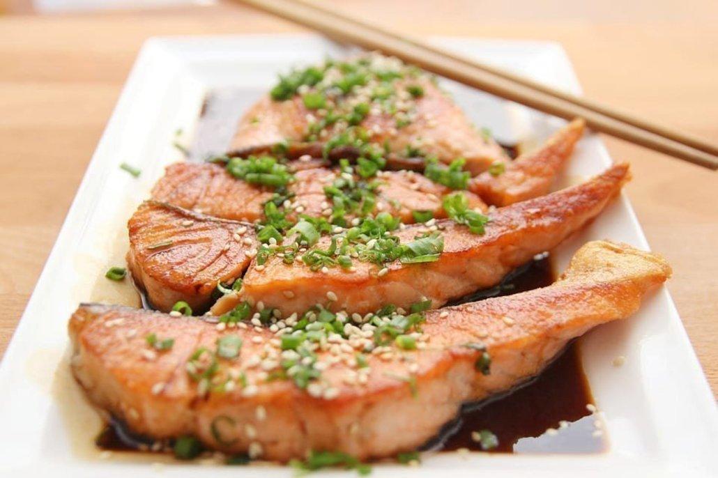 Receta de salmón con salsa teriyaki
