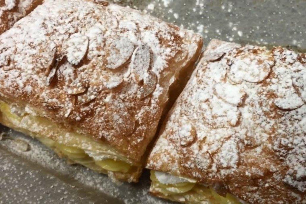 Como hacer un pastel de milhojas de crema y nata